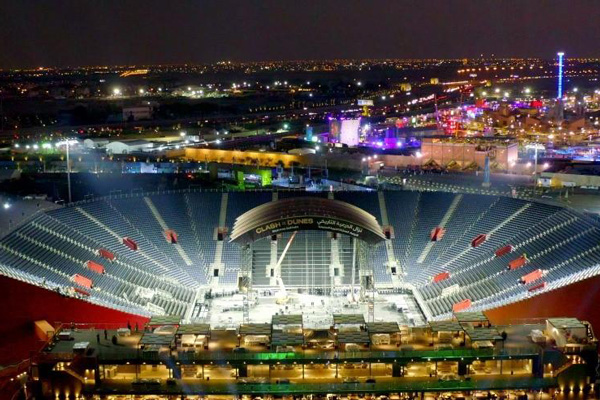 Arena boxes off 15,000-seat stadium for Joshua v Ruiz II fight in Saudi Arabia